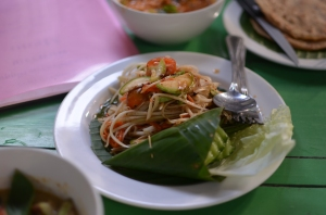 So much good food! This was a Papaya salad at a veggie resto.