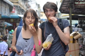 Ate Jankfruit in China Town