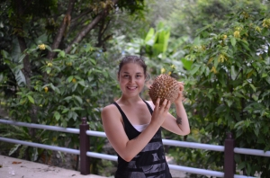 And, of course, ate durian