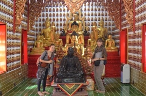 We did the tourist temple thing. That is a creepy buddhist.