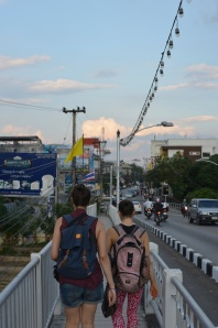 This was our bridge from our apartments into the city. We really loved Chiang Mai