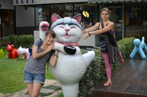 Again, they love their animal statues.