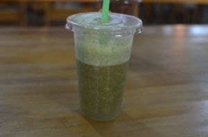 This is a lemon, mint ginger shake. I had one every.single.day.