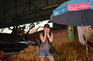 So.Many.Durian. Baby Sister lost her mind.