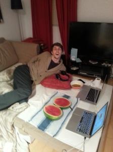 Lounge boyfriend.